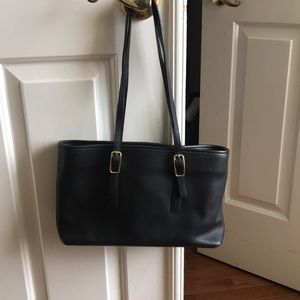 Coach purse in black,  all leather